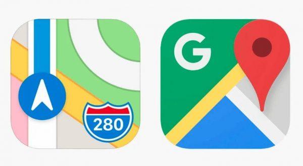 google bing apple maps